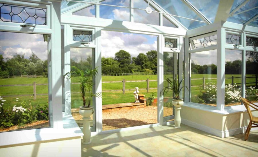 Conservatory Inside looking out in Bridgwater